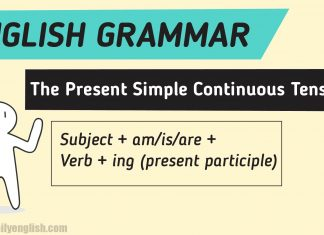 The Present Simple Continuous Tense (Example & Explanation)-01