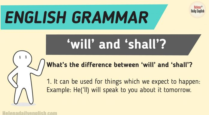 What's the difference between 'will' and 'shall'?