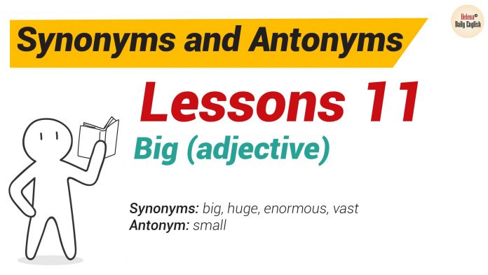 Synonyms and Antonyms Dictionary 11-01