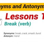 Synonyms and Antonyms Dictionary 13-01