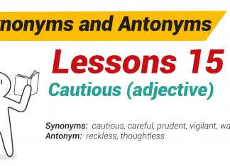 Synonyms and Antonyms Dictionary 15-01