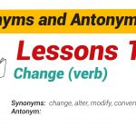 Synonyms and Antonyms Dictionary 16-01
