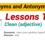 Synonyms and Antonyms Dictionary 18-01
