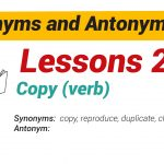 Synonyms and Antonyms Dictionary 24-01