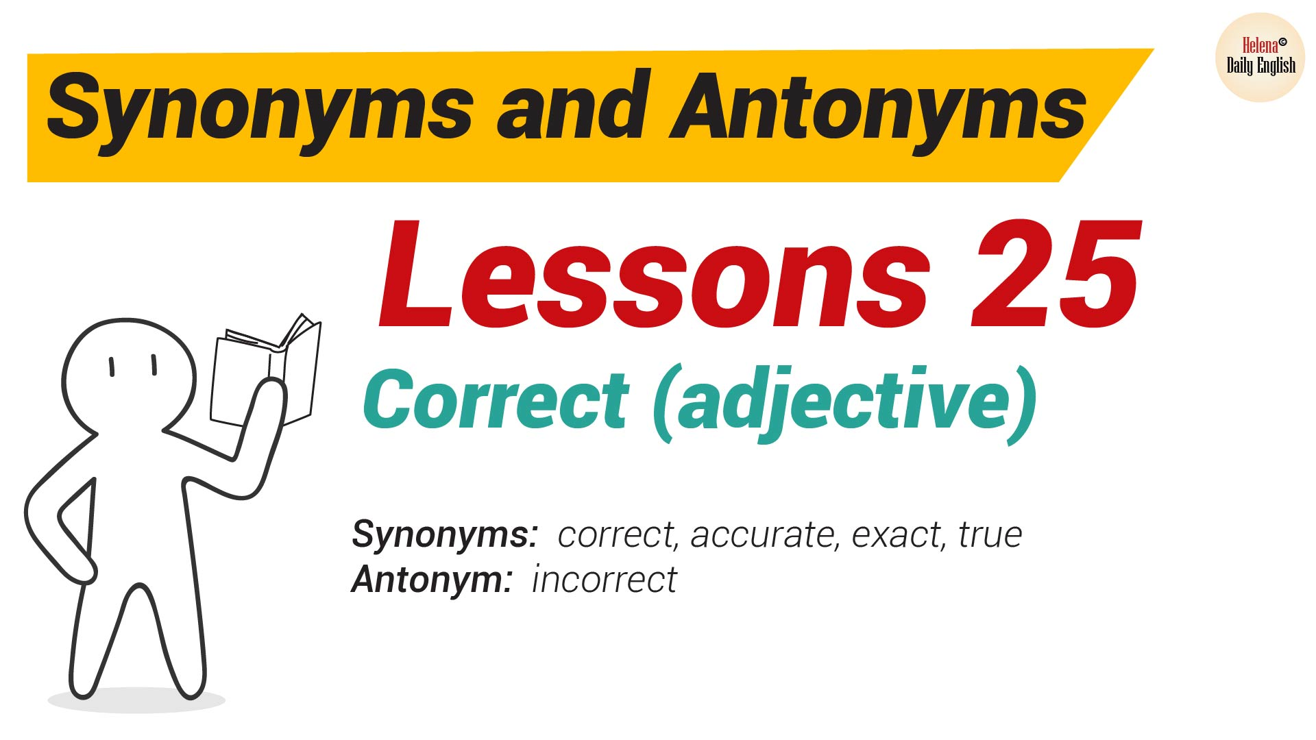 synonyms and antonyms dictionary lesson 25 correct adjective