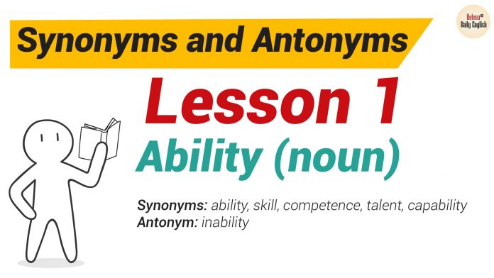 Synonyms and Antonyms Dictionary -Lesson 1-01