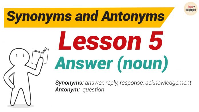 Synonyms and Antonyms Dictionary -Lesson 5-01
