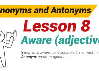 Synonyms and Antonyms Dictionary -Lesson 8-01