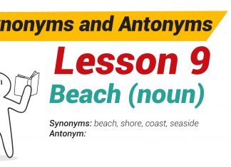 Synonyms and Antonyms Dictionary -Lesson 9-01