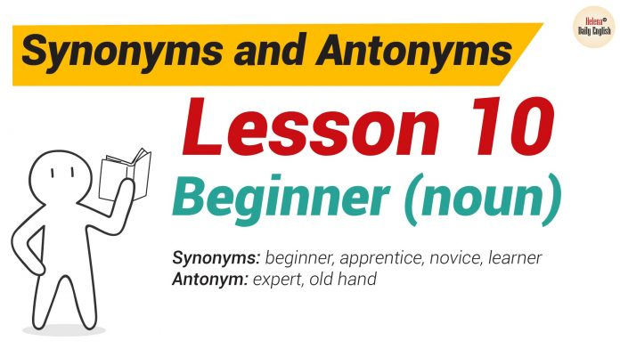 Synonyms and Antonyms Dictionary -Lesson10-01