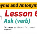 Synonyms and Antonyms Dictionary -Lesson6-01