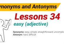 Synonyms and Antonyms | Helena's Blog