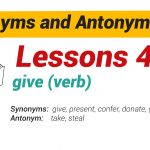 Synonyms and Antonyms Dictionary 46-01